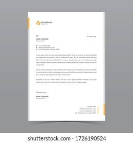 A4 Letterhead Template Vector Design