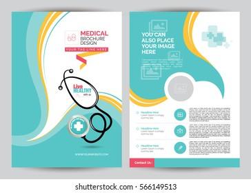 A4 Medical Brochure Design Template - Front & Back A4 Medical Brochure Design Template