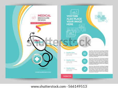 A 4 Medical Brochure Design Template Front Stock Vector Royalty