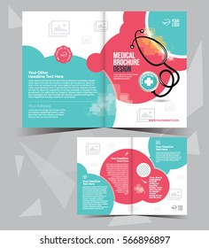 trifold medical brochure flyer layout template stock vector royalty