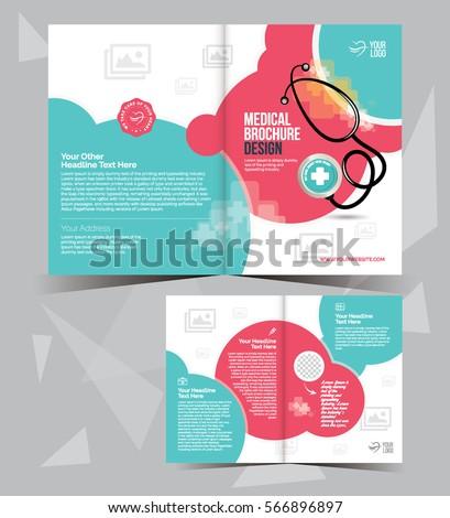 a4 medical brochure layout template design bi fold medical brochure template