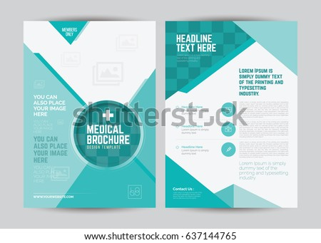 a 4 medical flyer brochure layout template stock vector royalty