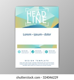 A4 Size, Abstract Cover Background polygon design, Brochure Template, Flyer Layout, Report, booklet-Vector illustration