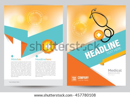 a 4 size medical brochure flyer design stock vector royalty free