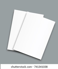 A4 sized vector frame poster blank paper mockup.