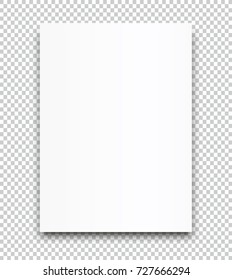 A4 sized vector poster blank paper mockup.