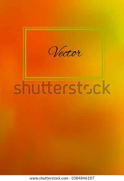A4 Stylish Cover with Smooth Green, Yellow and Orange Gradient Background and Text