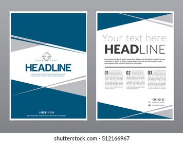 A4 Template design for Flyer / Brochure / Leaflet / Annual report cover in CMYK color