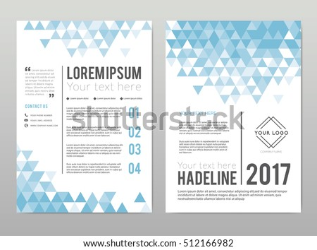 a 4 template design flyer brochure leaflet stock vector royalty