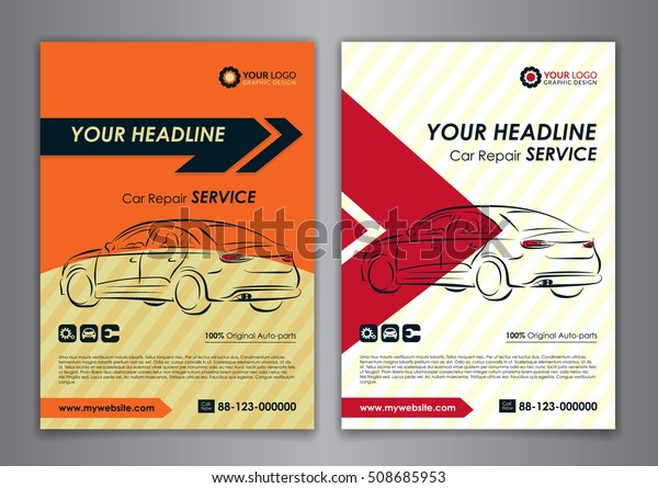 A5 A4 Set Car Repair Service Stock Vector Royalty Free 508685953
