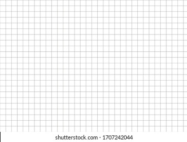 A5 paper size vector illustration. Standard scaled size. Editable squared grid background can use for wallpaper, pattern and tile texture. Horizontal projection.