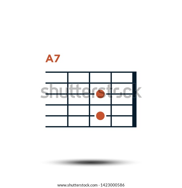 A7 Basic Guitar Chord Chart Icon Stock Vector (Royalty Free ... on