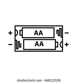AA battery icon, vector illustration
