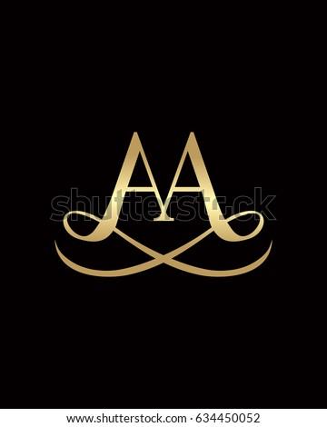 aa elegant logo のベクター画像素材 ロイヤリティフリー 634450052