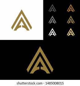 AA initial logo design, A logo, AA Letter Logo Design Template Vector EPS