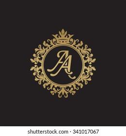 AA initial luxury ornament monogram logo