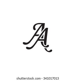 AA initial monogram logo