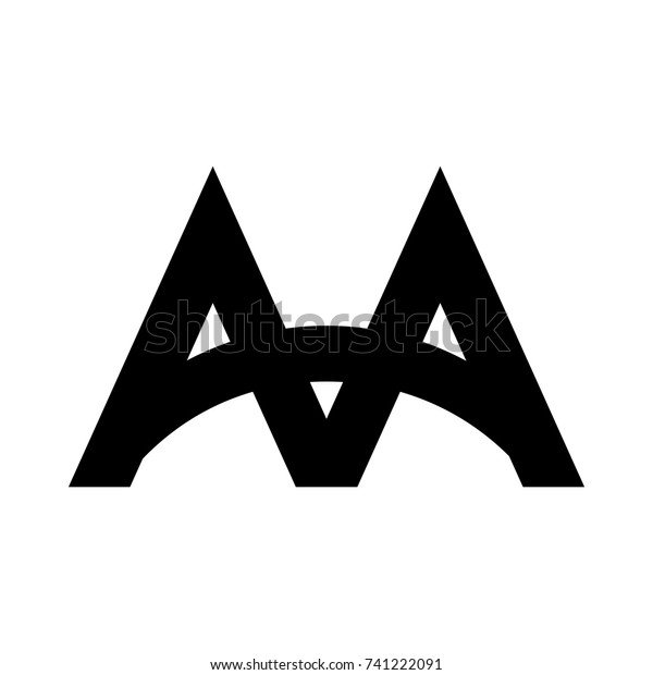 Aa Letter Logo Stock Vector Royalty Free 741222091
