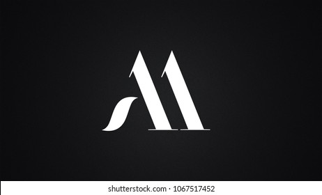 AA Letter Logo Design Template Vector