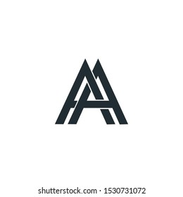 AA letter logo designs vectore template