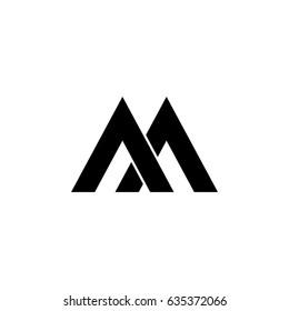 Aa Letter Vector Logo M