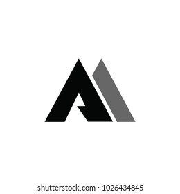aa letter vector logo. am letter vector logo. mountain vector logo