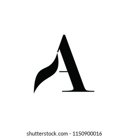 aa letter vector logo. mountain vector logo