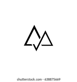 aa letter vector logo. mountain vector logo