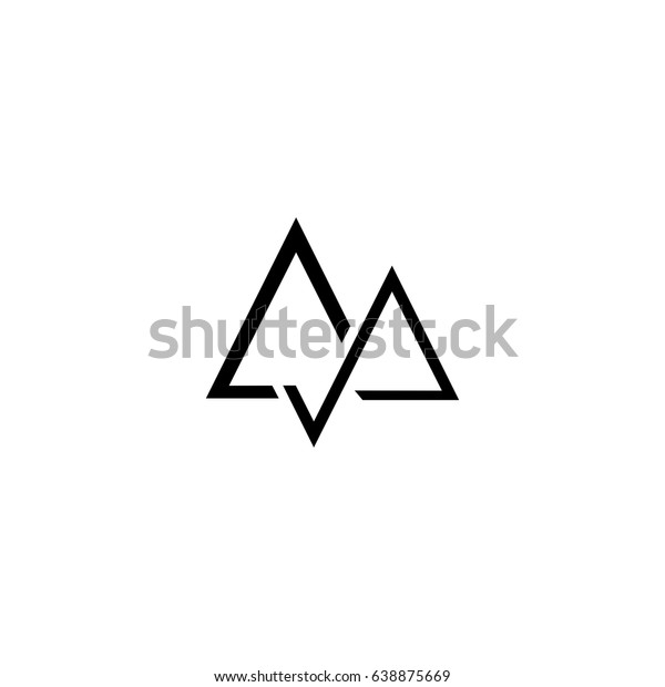 Aa Letter Vector Logo Mountain Vector Stock Vector Royalty Free