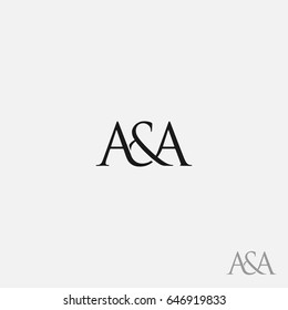 A & A / AA logo initial vector mark