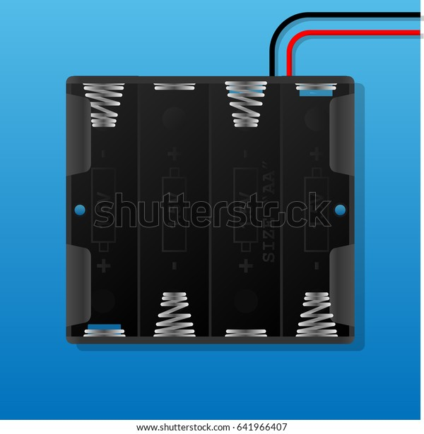 aaa battery holder with wiring