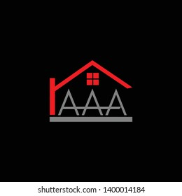 AAA home logo design fully customize vector file