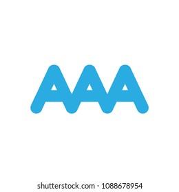 AAA letter logo, triple A letter logo