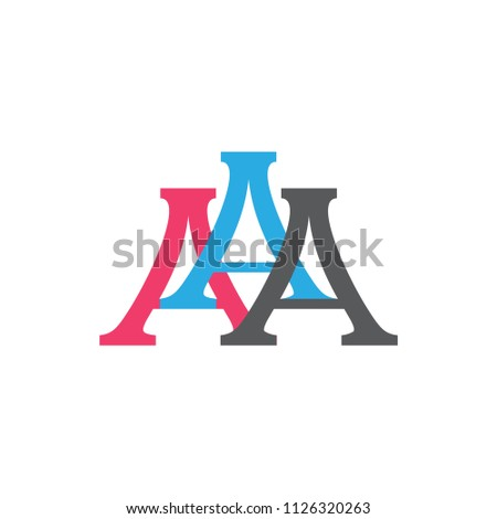 Aaa Logo Letter Design Stock Vector Royalty Free 1126320263