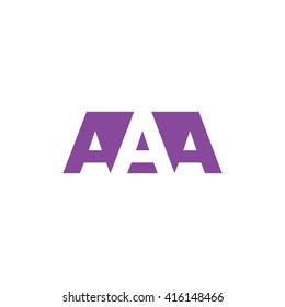 AAA Logo. Vector Graphic Branding Letter Element. White Background