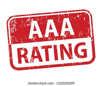 aaa rating rubber stamp, triple a rating