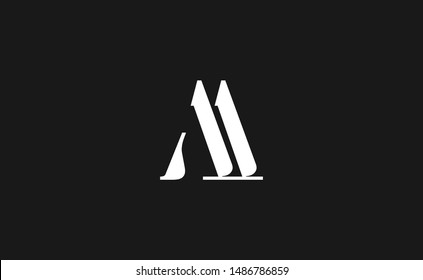 AA,AI Letter Logo Design with Creative Modern Trendy Typography