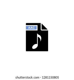 aac audio document file format icon