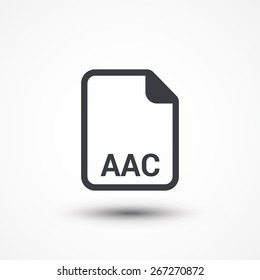 AAC audio file extension icon.