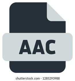 AAC file extension icon - Vector icon - Vector Illustration