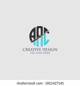 AAC Letter Logo Design Cross Monogram Icon.