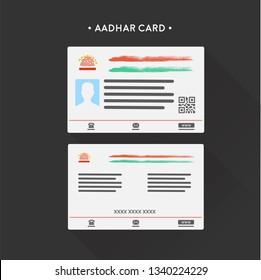 Aadhar Card Illustration