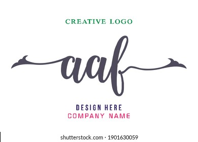 AAF lettering logo is simple, easy to understand and authoritative