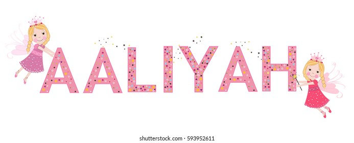 Aaliyah female name with cute fairy tale