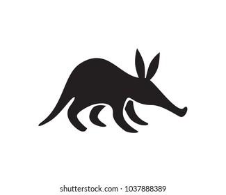 aardvark black silhouette