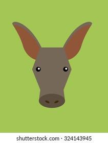 Aardvark Head Animal Vector
