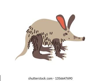Aardvark Wild Exotic African Animal Vector Illustration