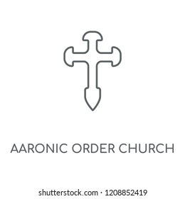 Aaronic Order Church linear icon. Aaronic Order Church concept stroke symbol design. Thin graphic elements vector illustration, outline pattern on a white background, eps 10.