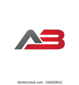 AB A3 company group linked letter logo