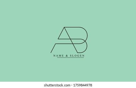 AB BA A B abstract vector logo monogram template